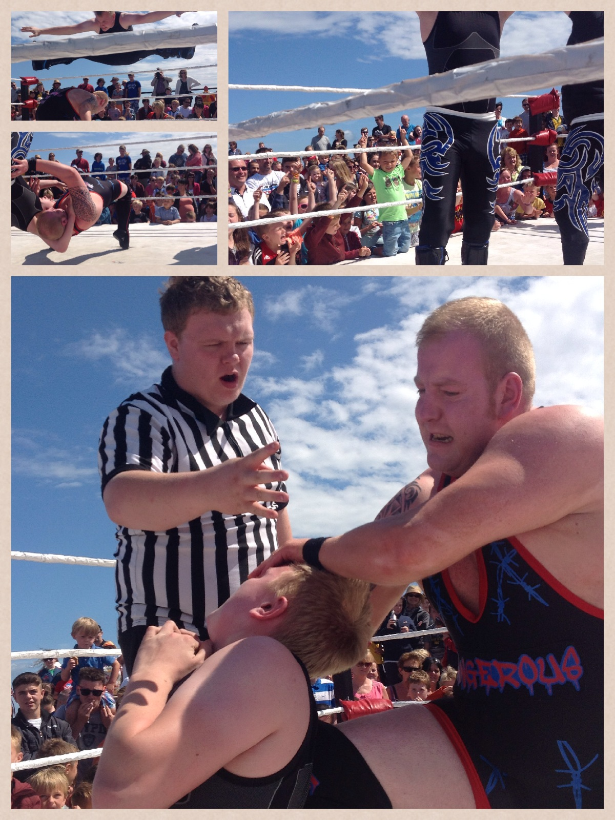 Wrestling on the promenade of Tramore