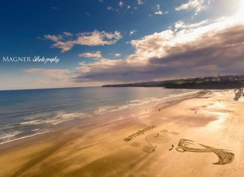 #promfest sand art from the sky - Picture credit the very talented Alan Magner
